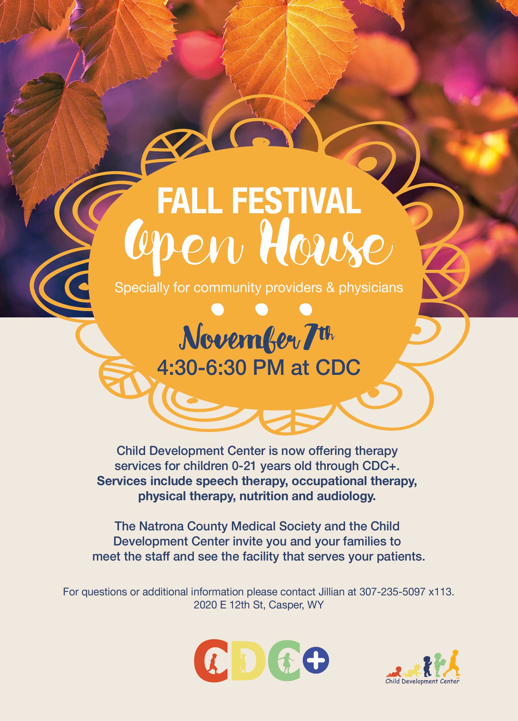 NOV. 7th – Fall Festival Open House